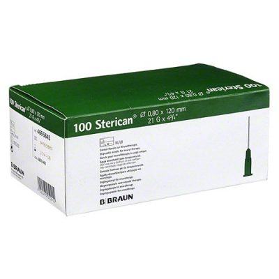 "Aguja hipodérmica Sterican 21G x 4 3/4"", 0,80 x 120 mm, T.Neural. Caja de 100"