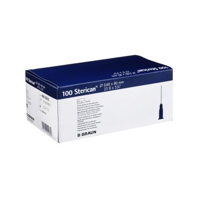 "Aguja hipodérmica Sterican 23G x 2 3/8"", 0,60 x 60 mm, T.Neural. Caja de 100"