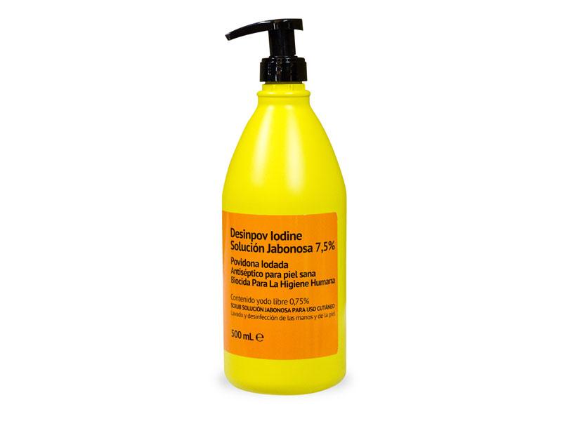 Desinpov jabón antiséptico de Povidona yodada solución 7,5%