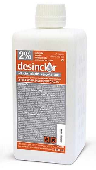 Clorhexidina solución coloreada 2% 500ml