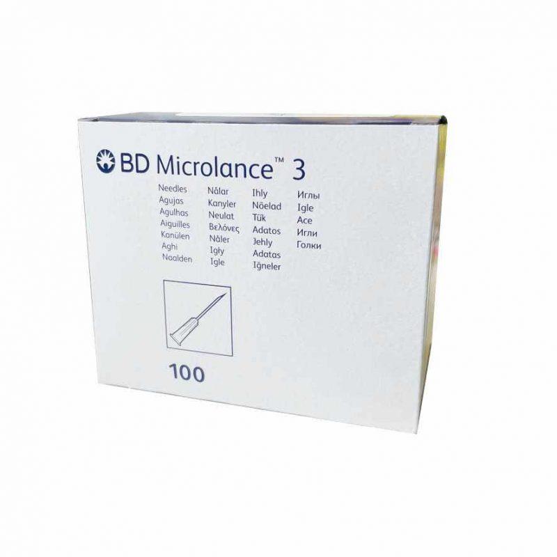 "Aguja hipodérmica BD 30G x 1/2"" 0,30 x 13 mm . Caja de 100 unidades"