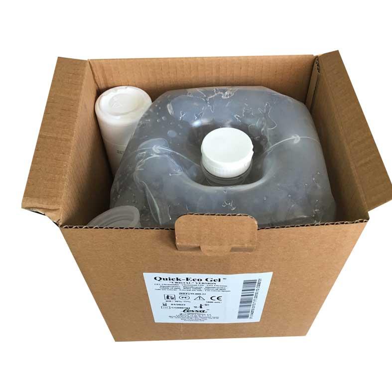 caja de gel ultrasonido