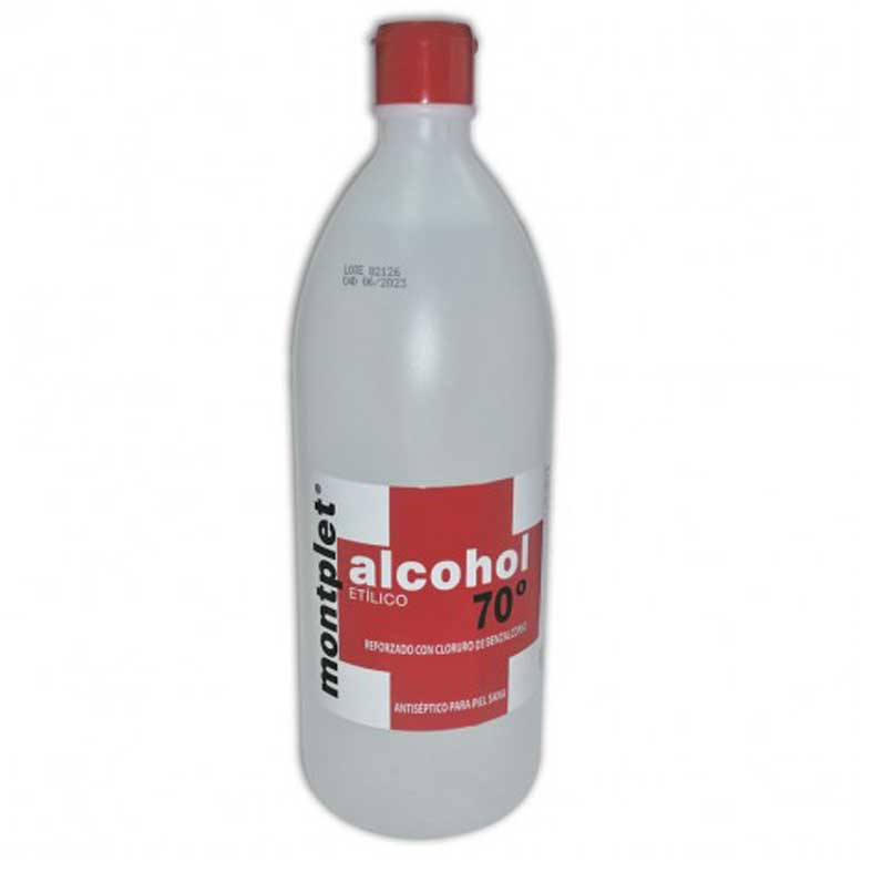 Alcohol etilico 70 material sanitario ytsmed